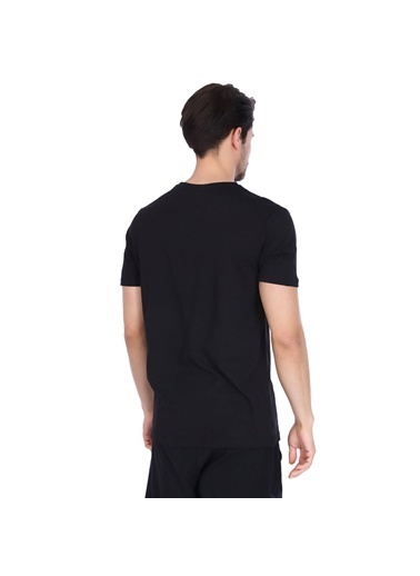 Sportive Spo-Basic Erkek Siyah Günlük Stil Tişört 710200-00B-S Siyah